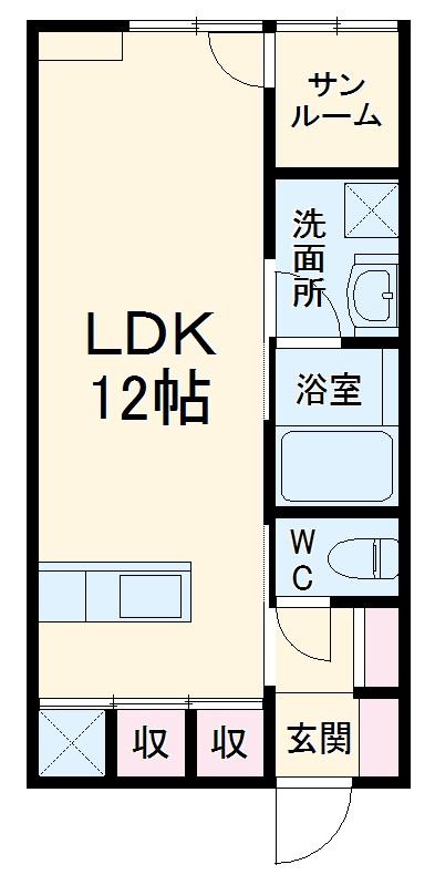 (仮)和雅家 弐番館 101号室の間取り