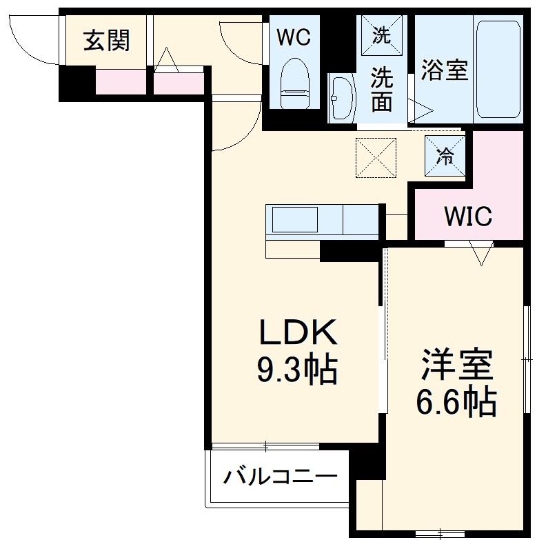 (仮称)D-room豊田市東新町4丁目 302号室の間取り