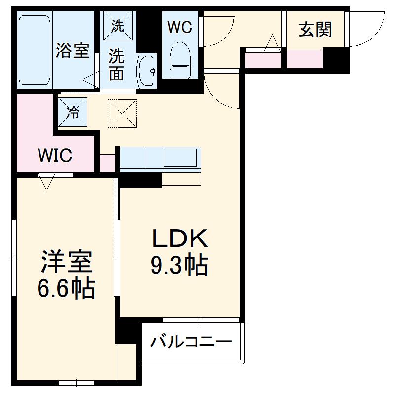 (仮称)D-room豊田市東新町4丁目 305号室の間取り