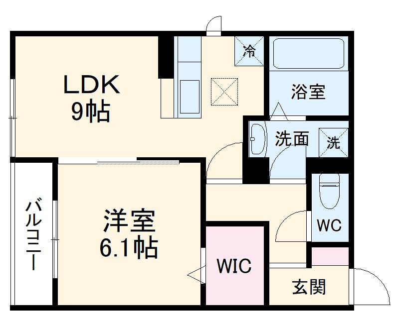 (仮称)D-room豊田市東新町4丁目 306号室の間取り