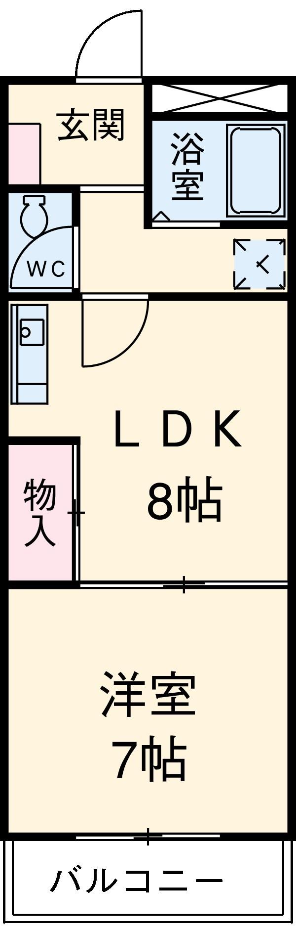 HIGASHIYAMA 306号室の間取り