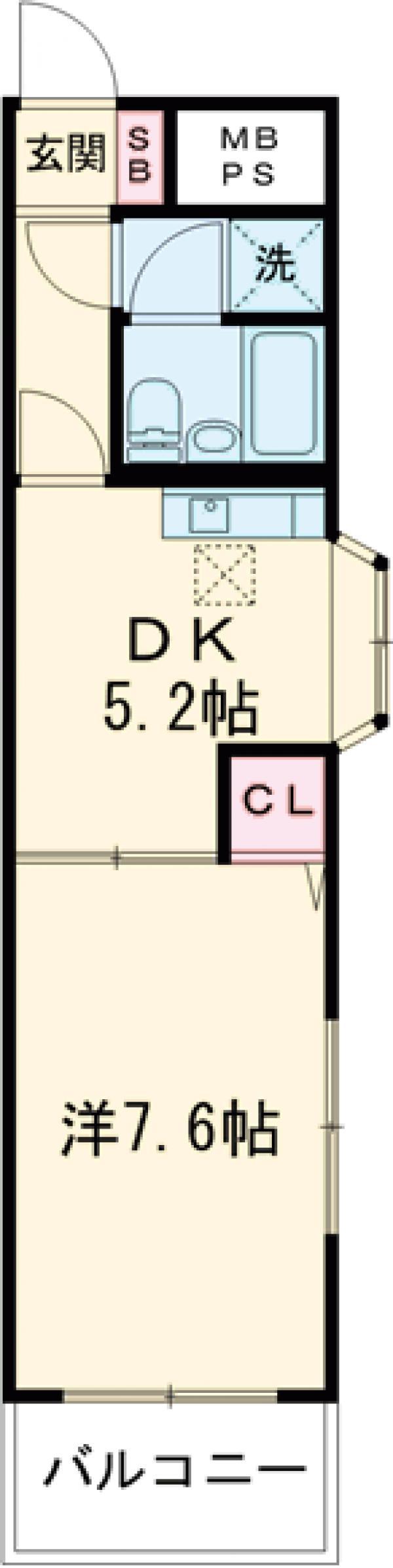 ライオンズマンション小岩第5 124号室の間取り