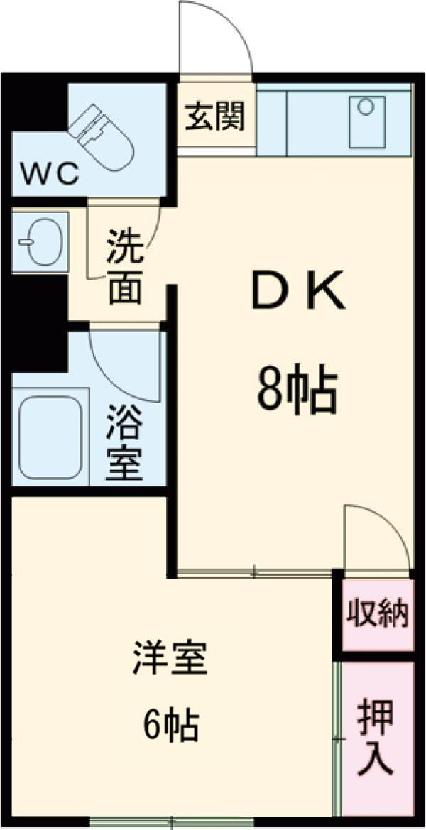 日赤前森田ビル 3C号室の間取り