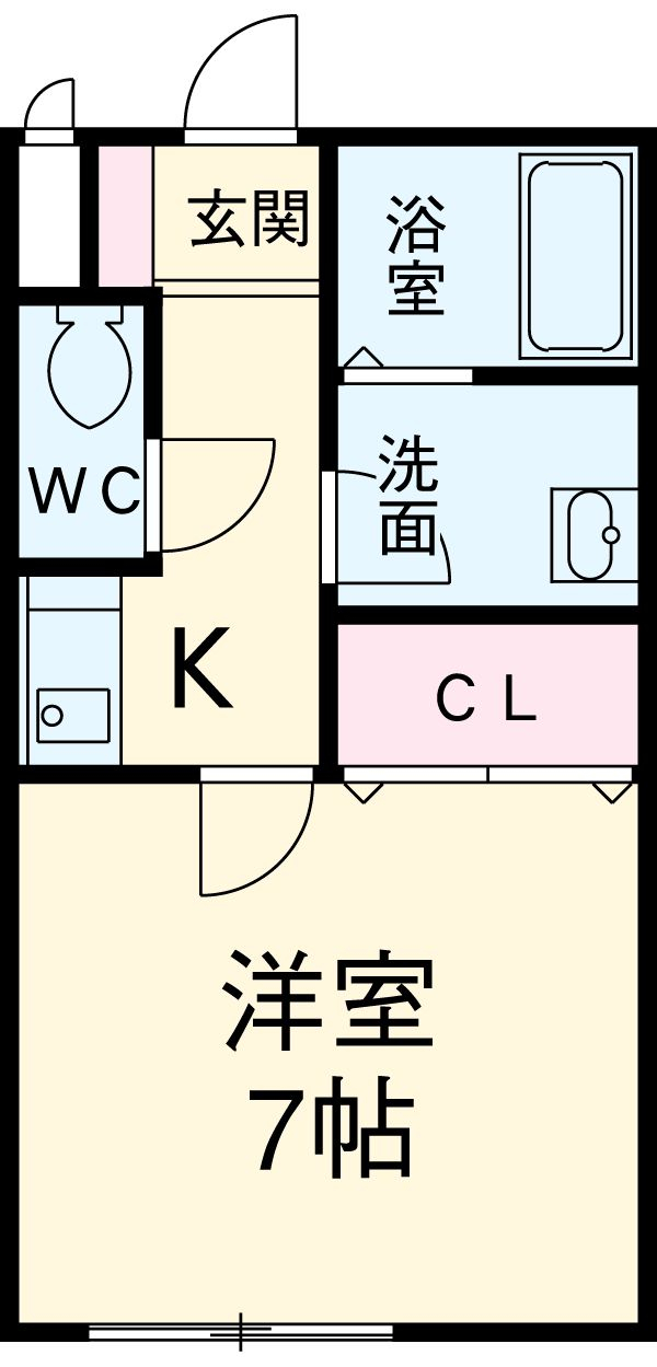 CASA松原(カーサマツバラ) 203号室の間取り