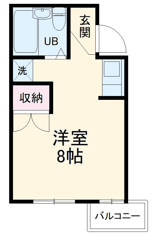 TIマンション 206号室の間取り