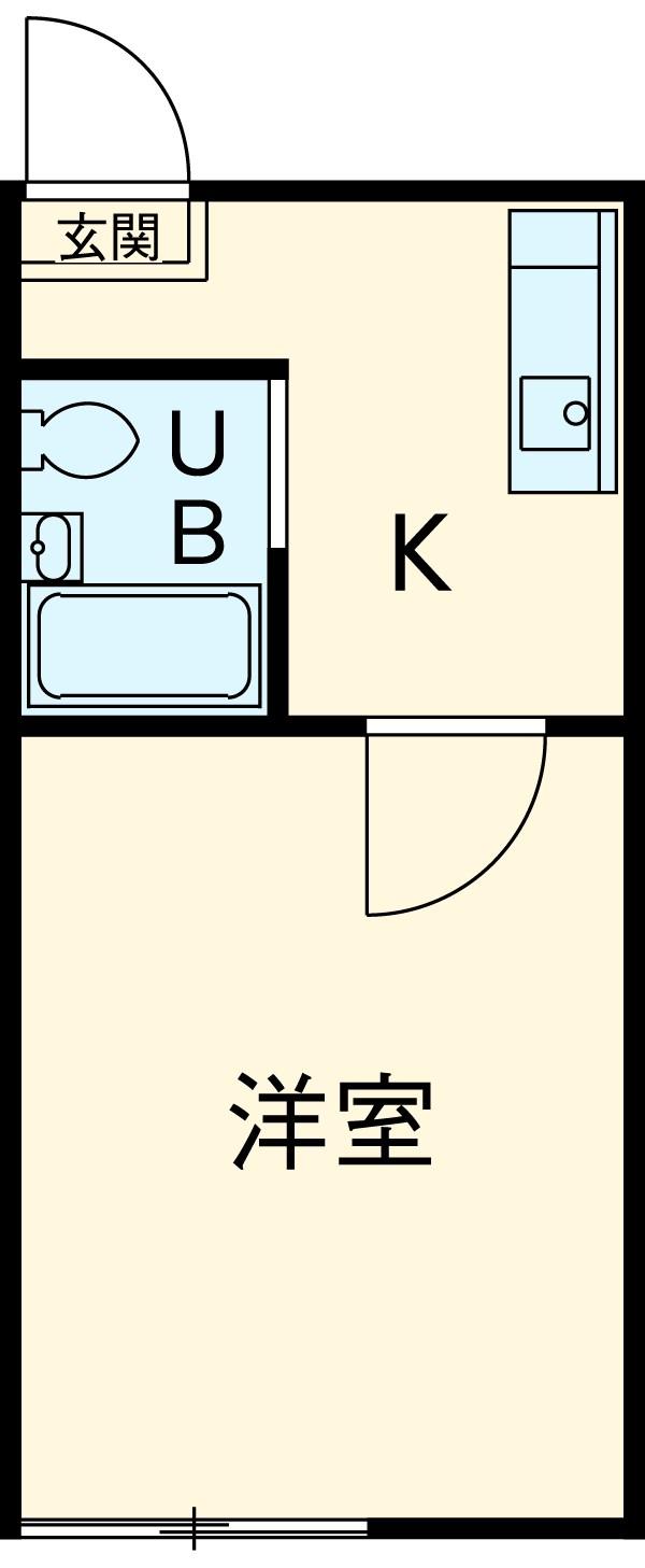 三沢ハイツ B111号室の間取り