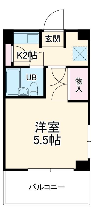 湘南金沢文庫ハイツ 102号室の間取り