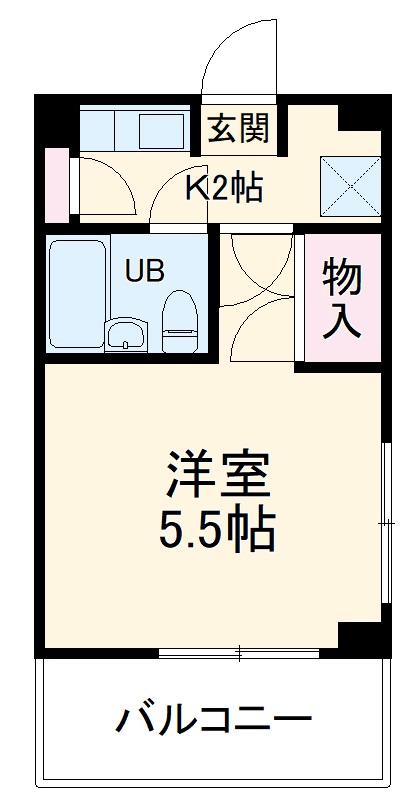 湘南金沢文庫ハイツ 206号室の間取り