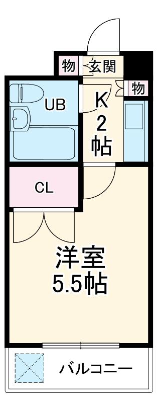 湘南金沢文庫ハイツ 302号室の間取り
