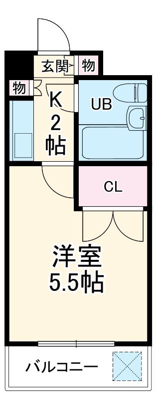 湘南金沢文庫ハイツ 403号室の間取り