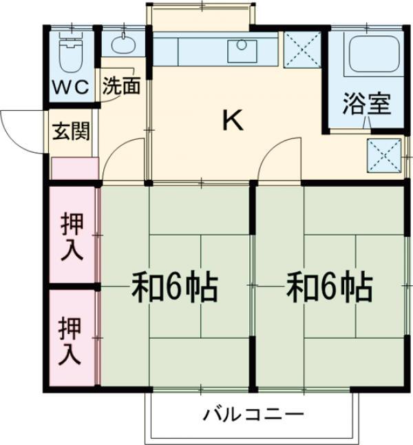 米山アパート 201号室の間取り