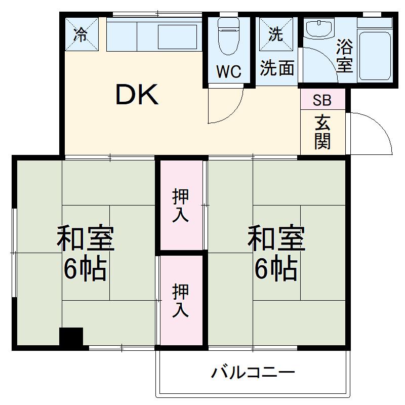 金沢ハイツ 301号室の間取り