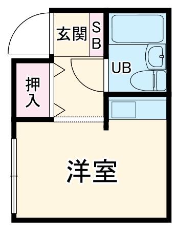 六浦駅南ハイツ 102号室の間取り