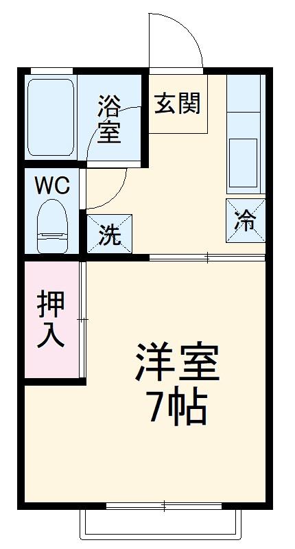 西方アパート 102号室の間取り