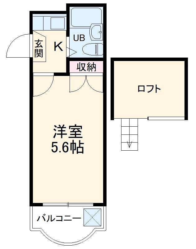 タンデム富岡 208号室の間取り