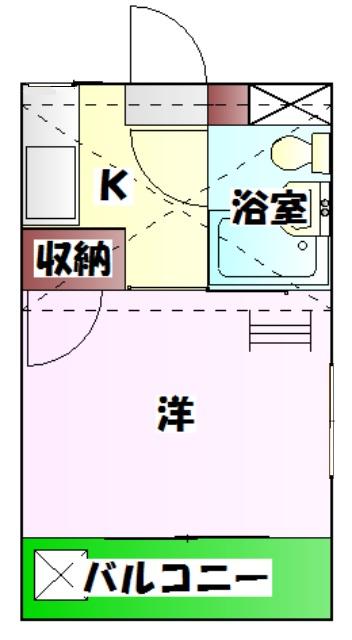 カーザ泉 201号室の間取り