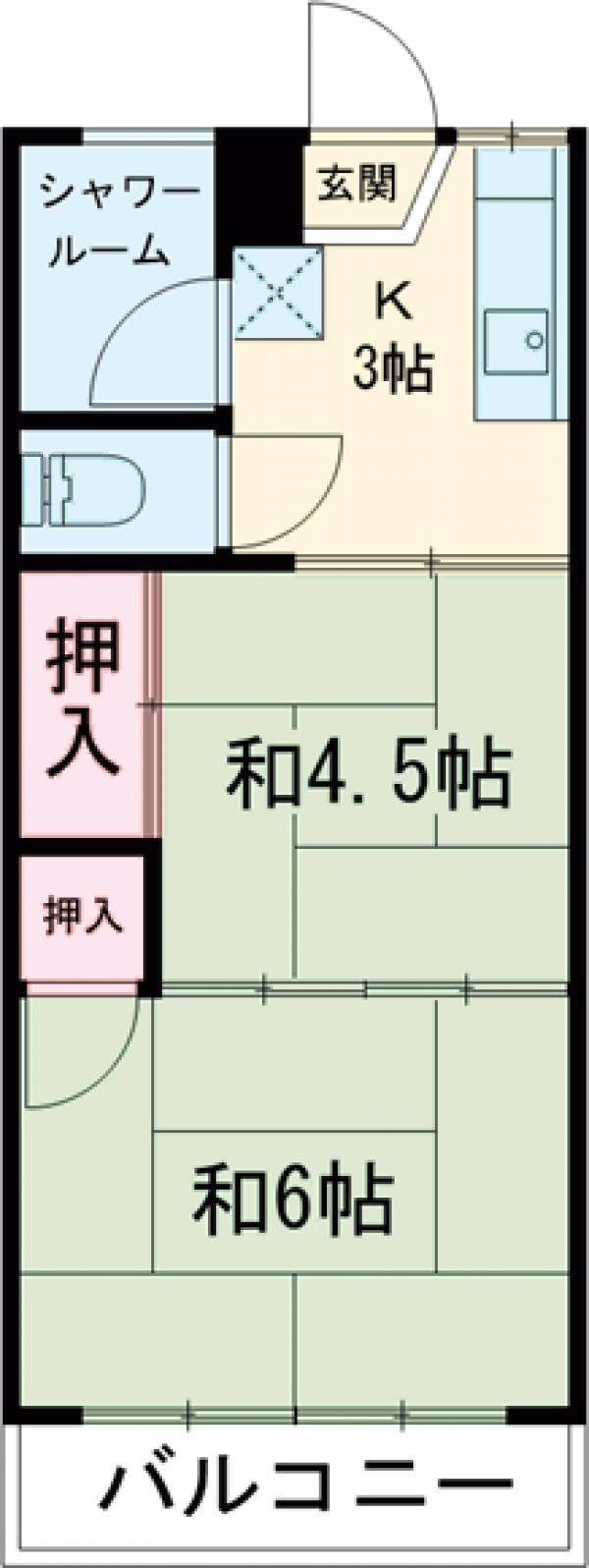第二大信マンション 305号室の間取り