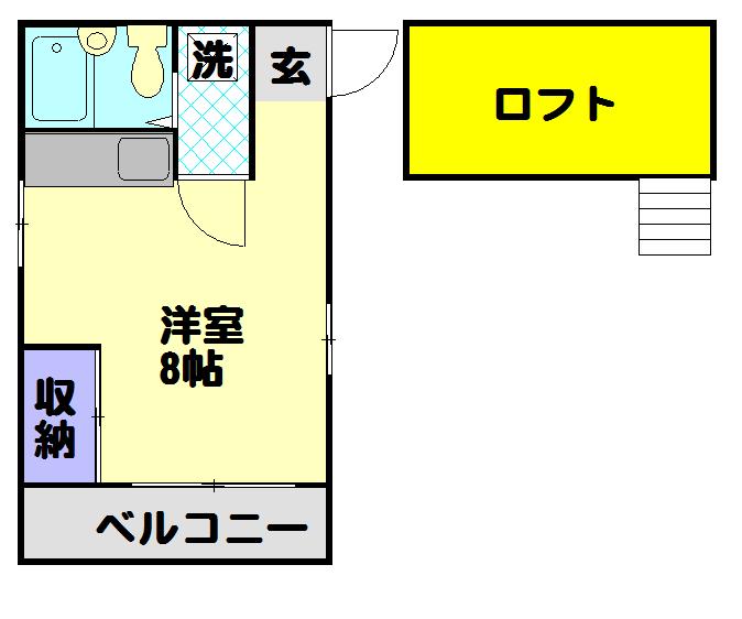 コンフォートアヤセ 202号室の間取り