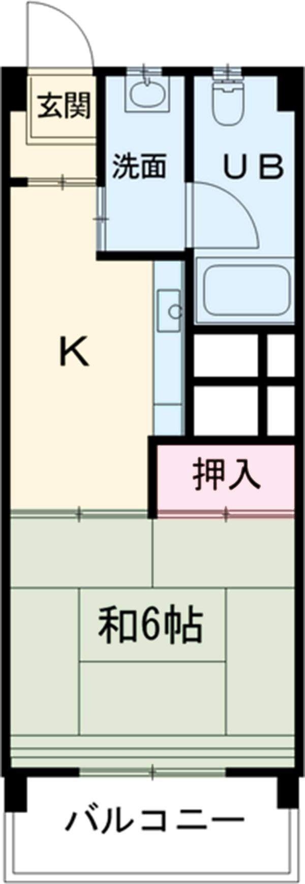 中駒九番団地 3号棟 1025号室の間取り