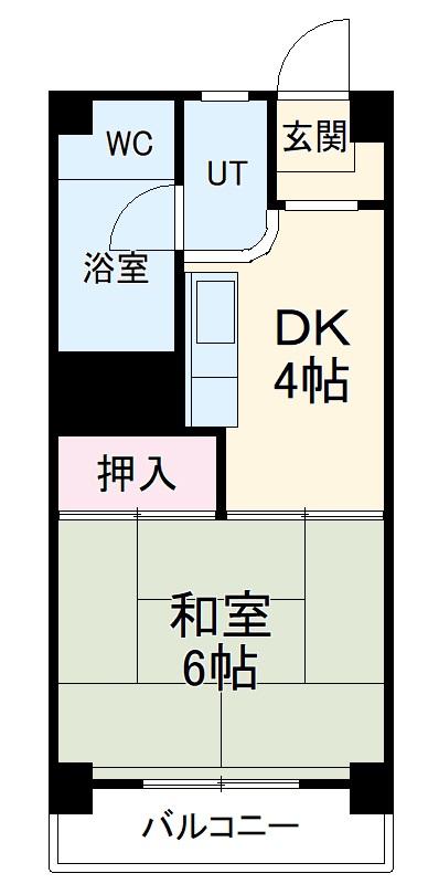 中駒九番団地 3号棟 1121号室の間取り