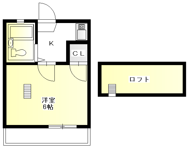 GAIA小幡 205号室の間取り