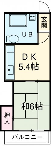 農協コーポⅡ 311号室の間取り