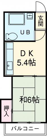農協コーポⅡ 316号室の間取り