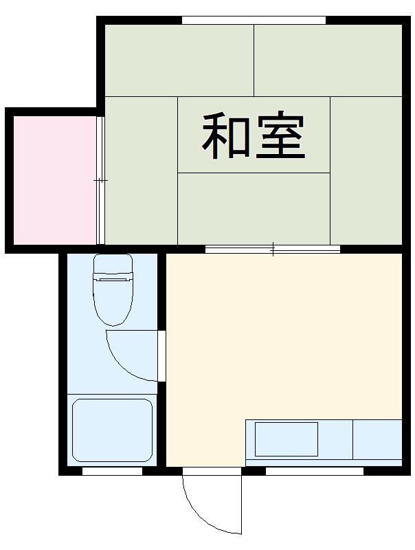 窪田ハイツ  201号室の間取り