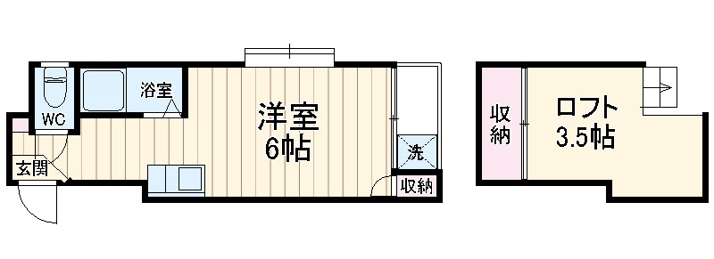 マキシム貝塚駅前 202号室の間取り