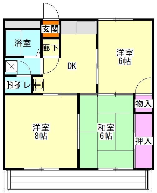 昭和コーポ前橋A棟 201号室の間取り