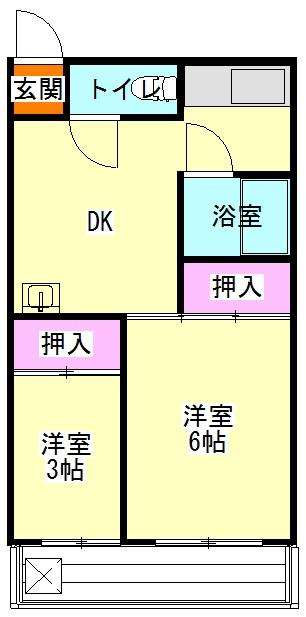 オギハラマンション南棟 201号室の間取り