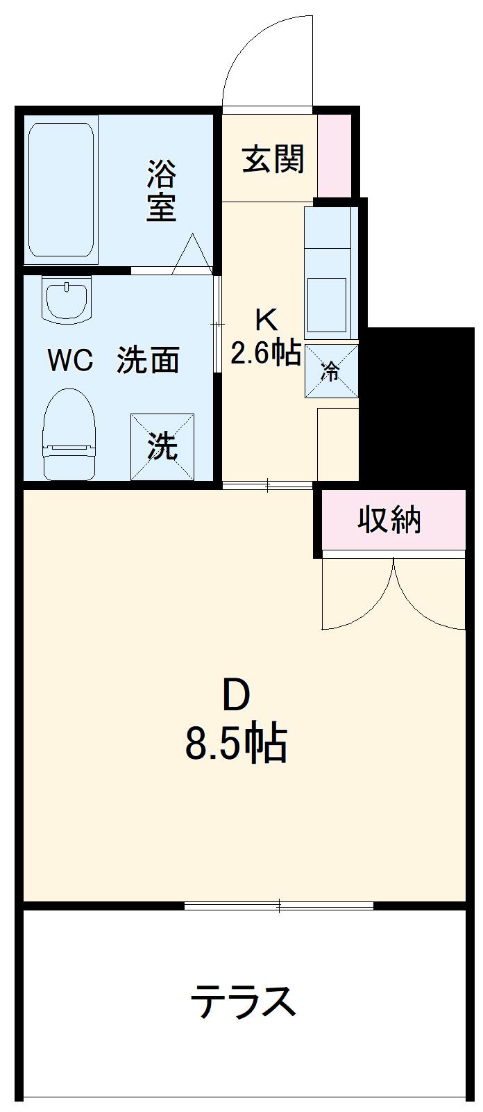 BBA-Loge上田アパート D号室の間取り