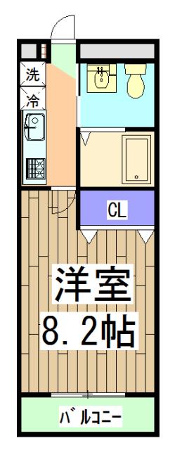 ワンモアハート円町 601号室の間取り