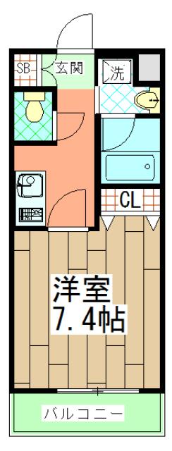 ベラジオ京都壬生イーストゲート 505号室の間取り