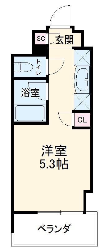 キャンパスヴィレッジ京都西京極 516号室の間取り