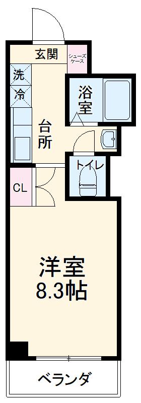 アンシャーレ西ノ京 302号室の間取り