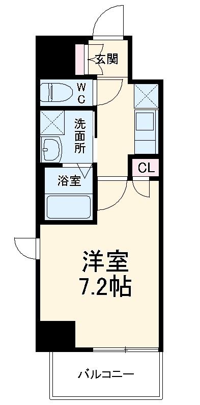 エスカーサ京都四条梅津 505号室の間取り