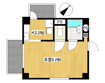 Villa IRIS 303号室の間取り