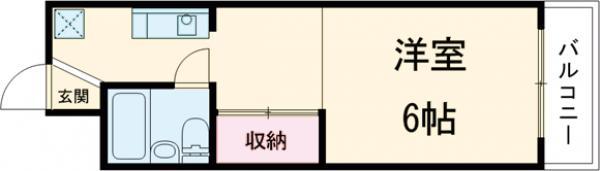 守山アートハイツ 3E号室の間取り