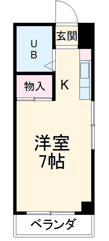 小澤マンション 405号室の間取り