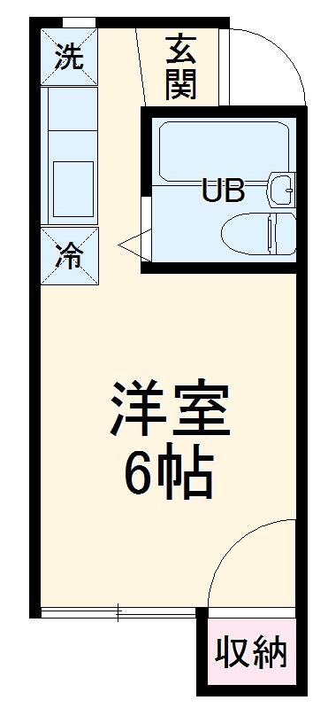 花夢ハウス(カムハウス) 108号室の間取り