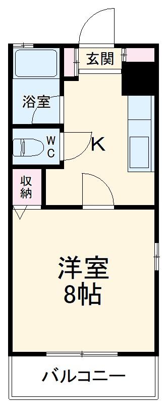ジョージアマンション 105号室の間取り
