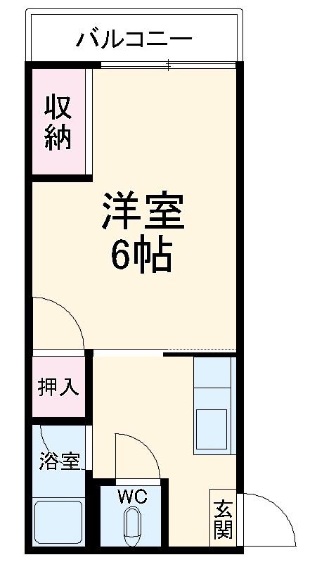 南福岡第2太陽コーポ 203号室の間取り