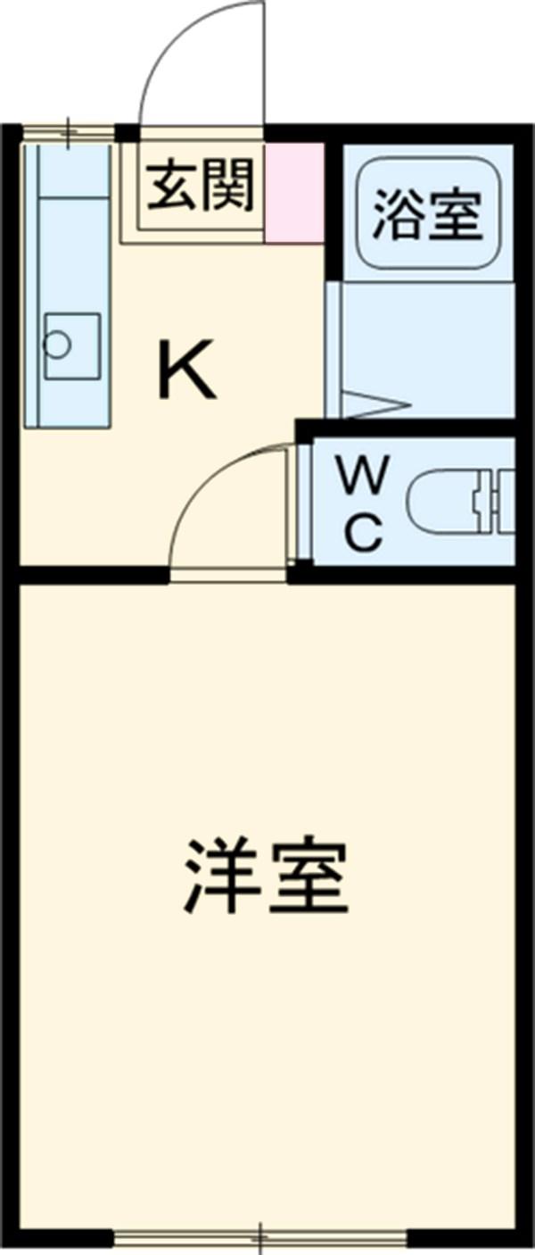 吉沢ハイツB棟 102号室の間取り