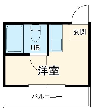 江曽島マンション 201号室の間取り