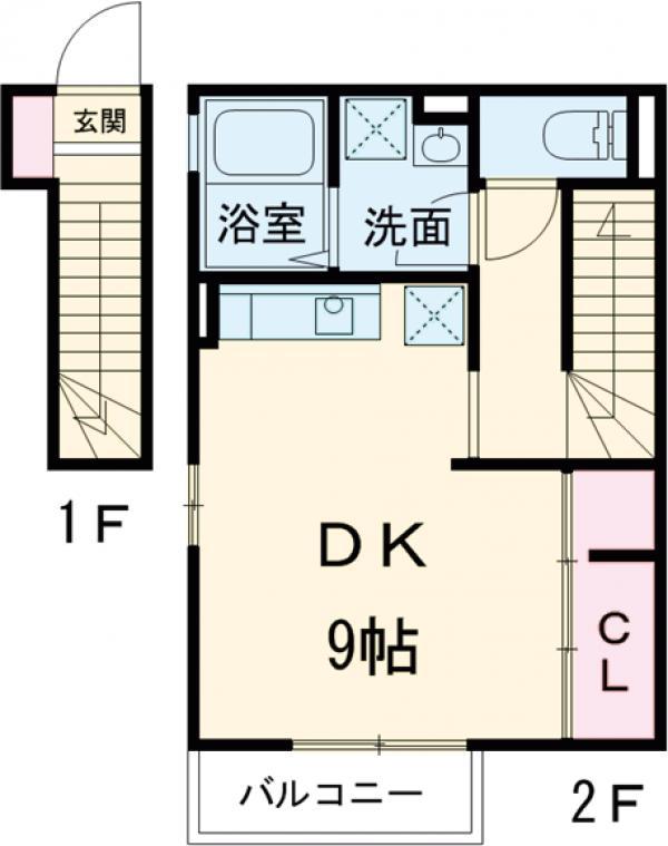 ハウス三生 203号室の間取り