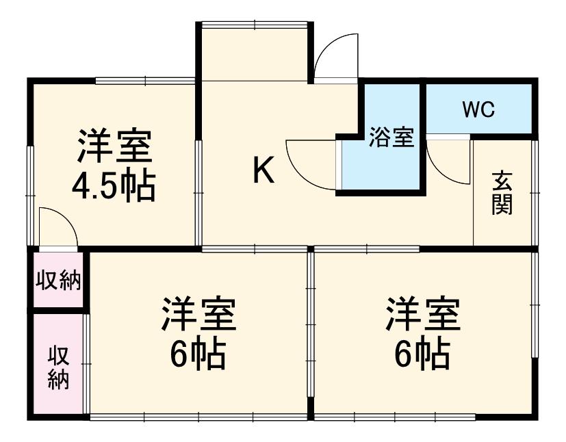 吉澤住宅A6の間取り