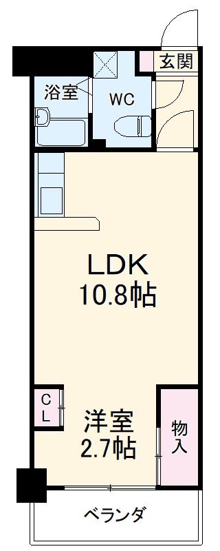 大竹南ビル 303号室の間取り