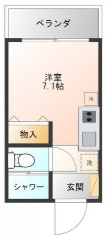 Hana House-Ona 203号室の間取り