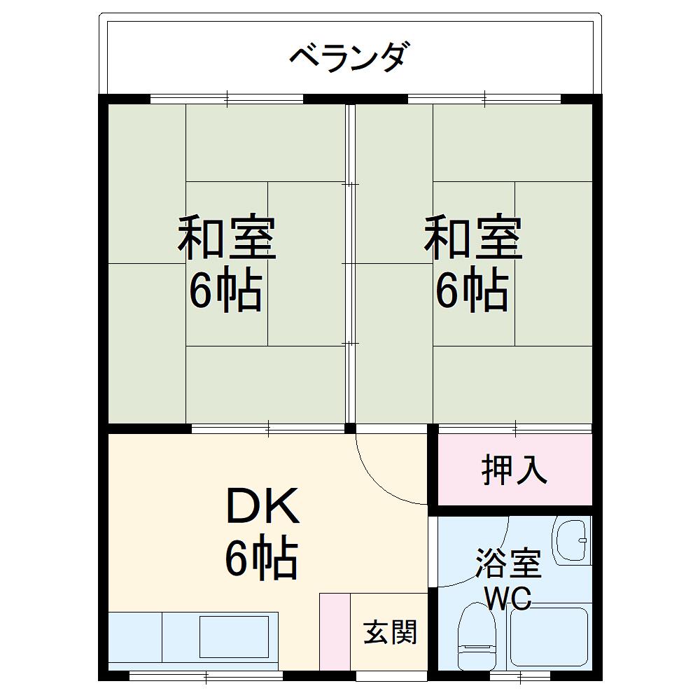 丸平アパート 302号室の間取り